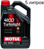 Масло моторное 10W-40 (5л.) Motul 4100 Turbolight