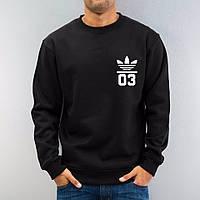 Спортивная кофта Adidas 03\Адидас 03, черная, мал лого, ф82