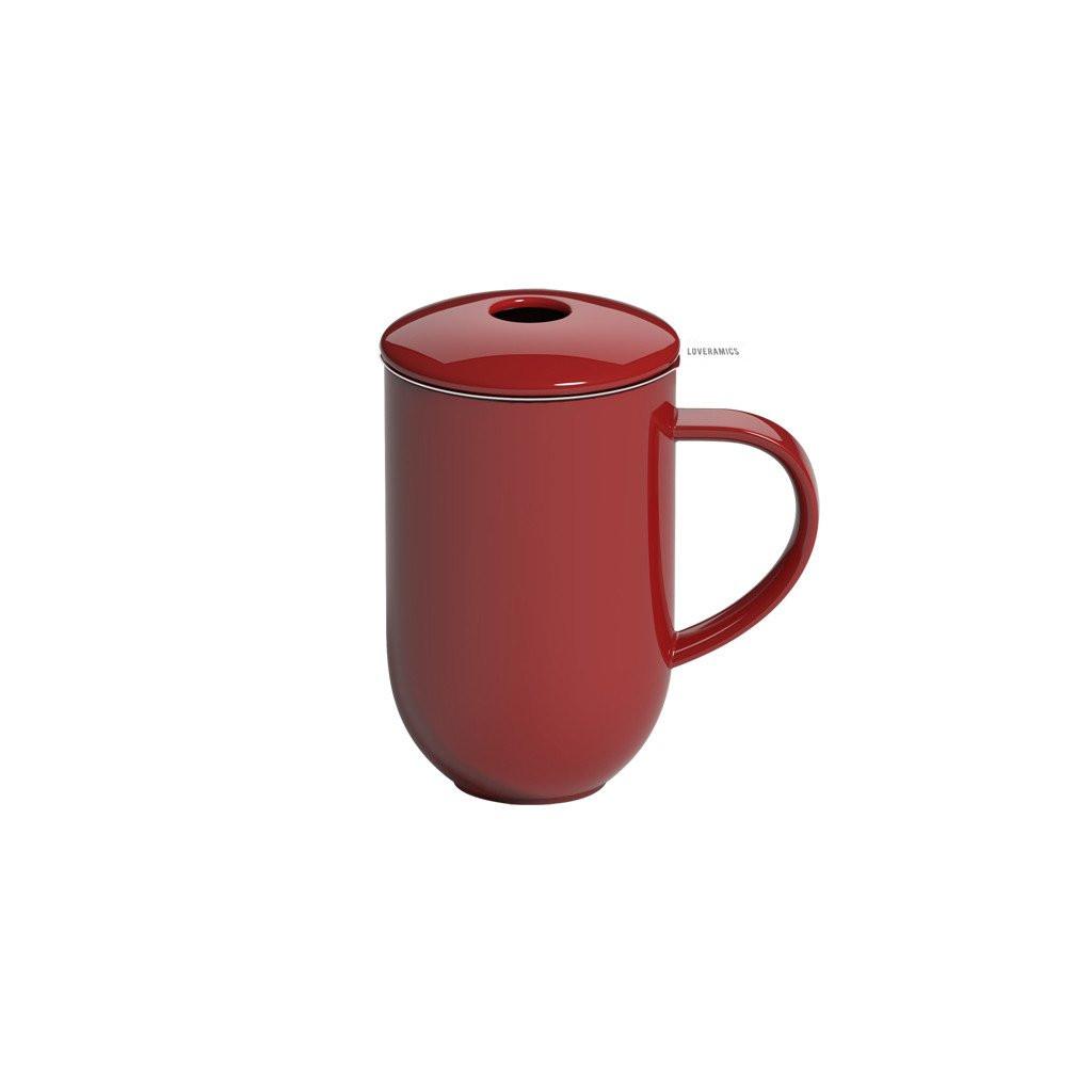 Висока чашка з сітечком та кришечкою 450 мл Pro Tea 450ml Mug with Infuser & Lid (Red)