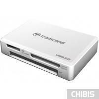 Кардридер Transcend USB 3.0 White (TS-RDF8W)