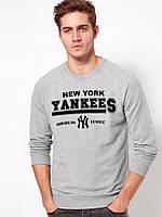 Спортивная кофта Yankees NY, серая, ХБ, ф3920