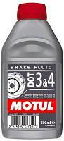 Тормозная жидкость Motul DOT 3&4 brake fluid 500 мл 807910