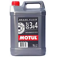 Тормозная жидкость. Жидкость для сцепления Motul DOT 3&4 brake fluid 5 литров 807906