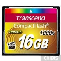 Карта памяти Transcend Compact Flash 1000x 16Gb