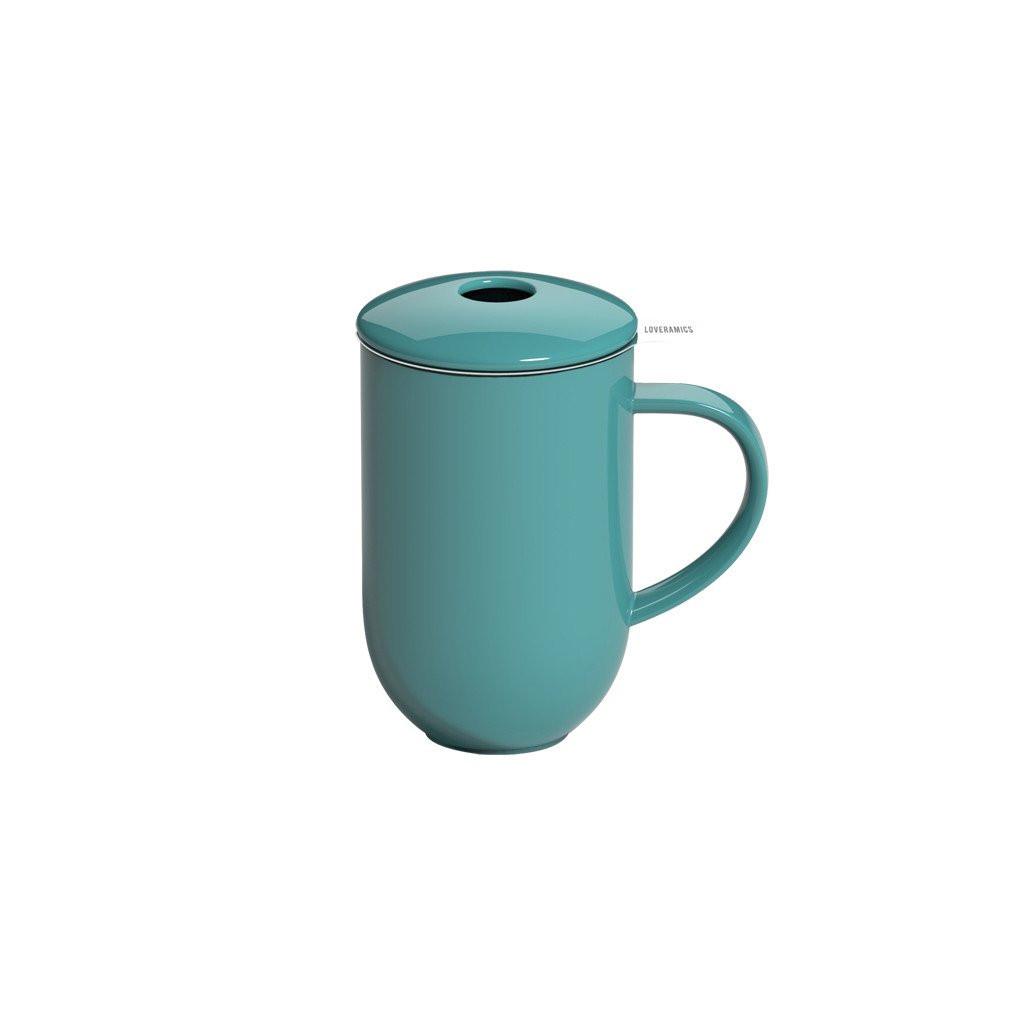 Висока чашка з сітечком та кришечкою 450 мл Pro Tea 450ml Mug with Infuser & Lid (Teal)