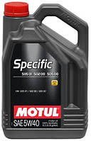 Масло моторное синтетическое Motul specific 505 01 502 00 505 00 SAE 5w40 (5l) 101575