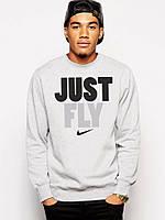 Спортивная кофта Nike, найк джаст флай, серая, ф4024