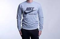 Спортивная кофта Nike, серая, молодежная, ф4032