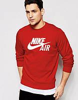 Спортивная кофта Nike красная, с большим белым логотипом, ф4039