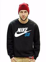 Спортивная кофта Nike, черная с белым логотипом, ф4043