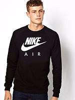 Спортивная кофта Nike, черная , с белым логотипом, ф4051