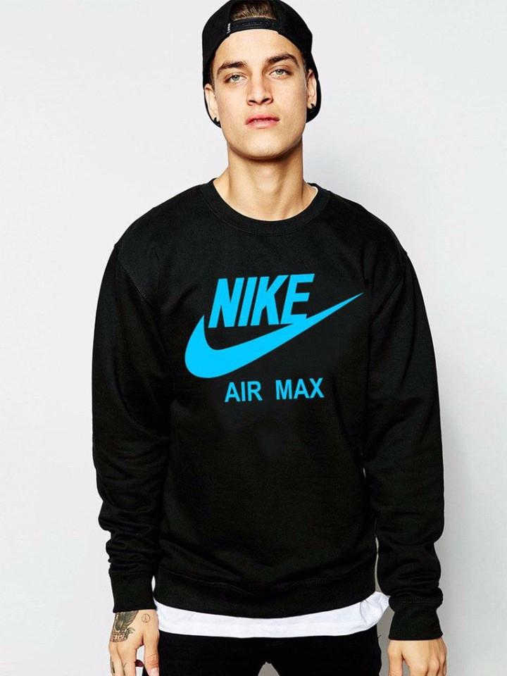 d700143b Спортивная кофта Nike AIR, черный цвет, биюзовый принт, ф4058 , цена ...