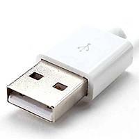 Штекер USB тип A, под шнур, бакелит, чёрный