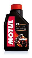Масло моторное для мотоциклов синтетическое Motul 710 2t (1l) 104034, фото 1