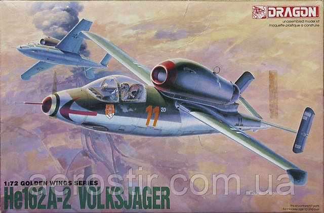 He.162A-2 'Volksjager' 1/72 DRAGON 5001