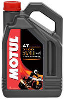 Масло моторное для мотоциклов синтетическое Motul 7100 4T SAE 5W40 (4L) 104087, фото 1