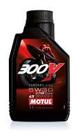 Масло моторное для мотоциклов синтетическое Motul 300v 4t factory line road racing SAE 5w30 (1l) 104108, фото 1