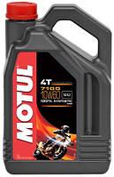 Масло моторное для мотоциклов синтетическое Motul 7100 4T SAE 10W60 (4L) 104101, фото 1