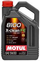 Масло моторное синтетическое Motul 8100 x-clean fe SAE 5w30 (4l) 104776