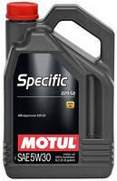 Масло моторное синтетическое Motul specific 229.52 SAE 5w30 (5l) 104845