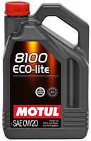 Масло моторное синтетическое Motul 8100 eco-lite SAE 0w20 (5l) 104983