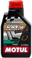 Масло трансмиссионное вилочное синтетическое Motul fork oil medium factory line SAE 10w (1l) 105925, фото 1