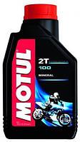 Масло моторное для мотоциклов минеральное Motul 100 2t (1l) 104024, фото 1