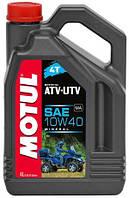 Масло для 4-х тактных двигателей минеральное Motul atv-utv 4t 10w40 (4l) 105879