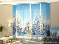 Панельная Фотоштора Ель в снегу
