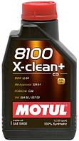 Масло моторное синтетическое д/авто Motul 8100 x-clean+ SAE 5w30 (1l) 106376