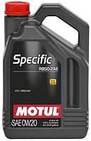 Масло моторное синтетическое д/авто Motul specific rbs0-2ae SAE 0w20 (5l) 106045