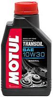 Масло трансмиссионное для скутеров минеральное Motul transoil SAE 10w30 (1l) 105894