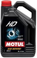 Масло трансмиссионное минеральное Motul HD SAE 80w90 (5l) 100105