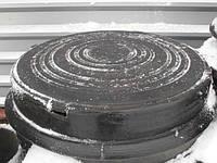 Люк канализационный полимерпесчаный легкий (до 3т) черный