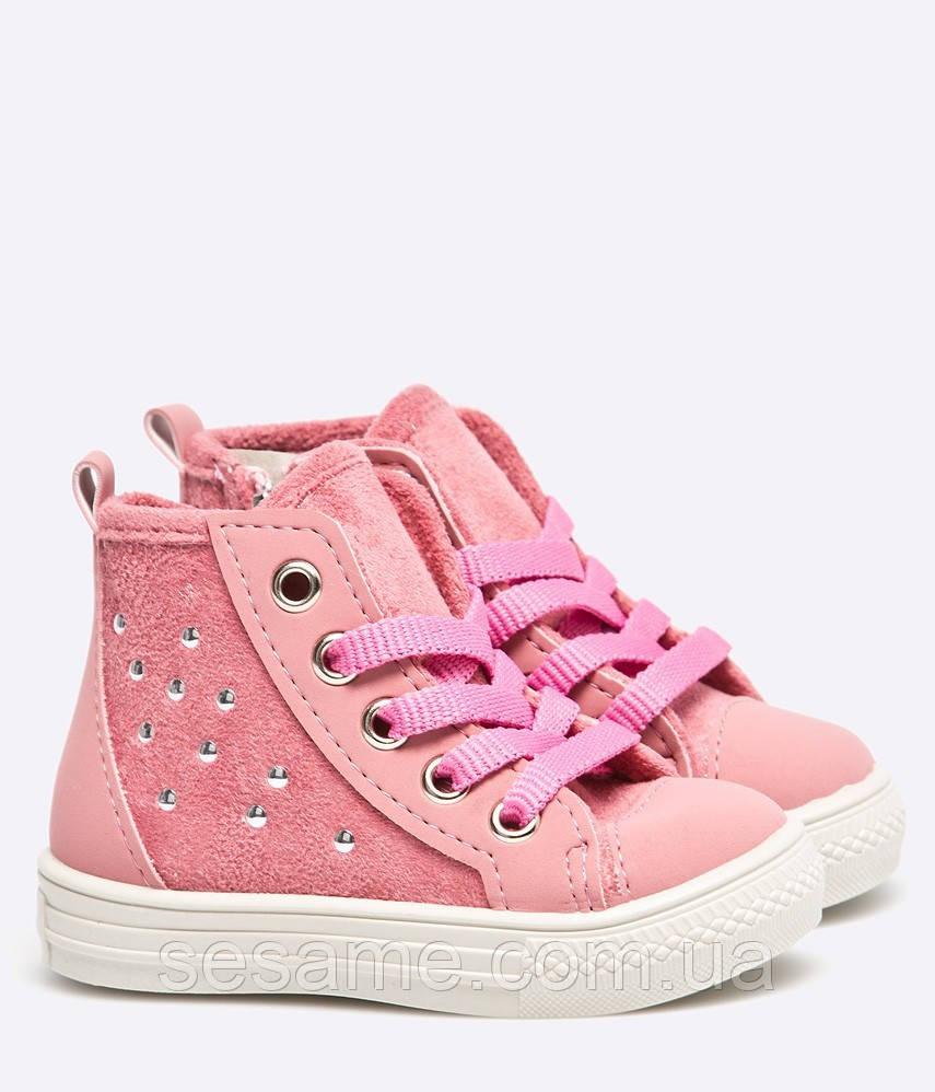 Детские ботинки кеды розовые для девочки