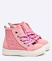 Детские ботинки кеды розовые для девочки, фото 1