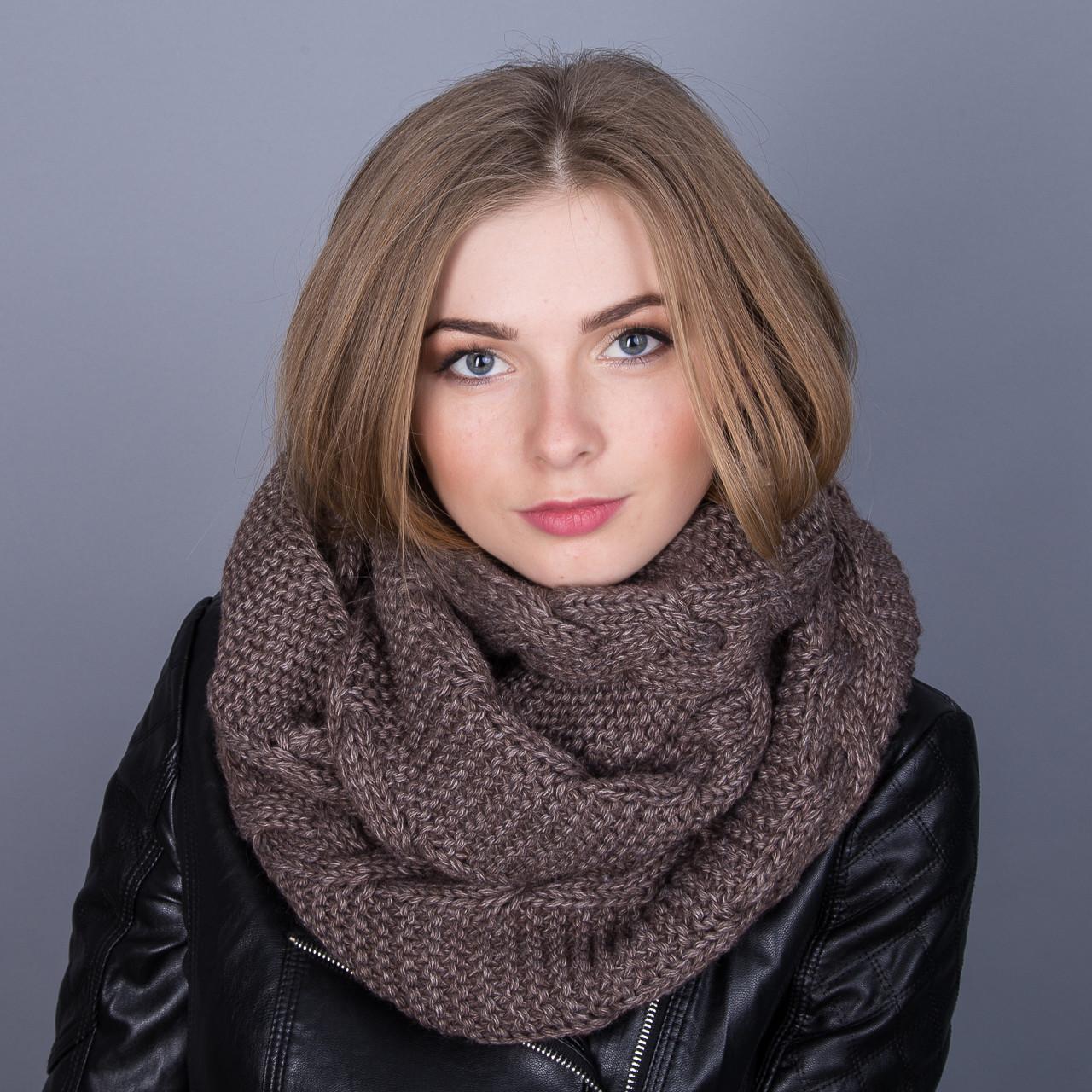 Стильныйснуд (хомут)для девушек крупной вязки из ангорки - Артикул ТХ-1E