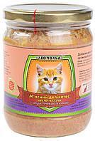 Консервы для котов Леопольд Премиум, мясной деликатес, с мясом курицы, сердцем и печенью, 500 гр (стекло)