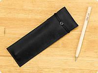 Стильный подарок деловому партнеру - кожаный чехол для ручек 1.0 Графит (+эко-ручка и карандаш)