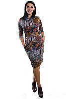 Женское трикотажное платье серый мрамор, фото 1