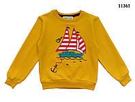 """Кофта """"Корабль"""" для мальчика.116, 128 см"""