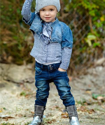 Детская джинсовая одежда для девочек оптом