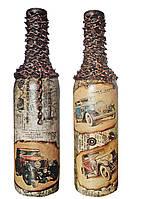 """Подарок мужчине автомобилисту Декоративная бутылка """"Ретроавто"""""""