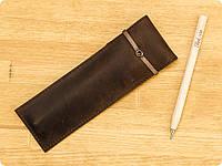Кожаный чехол для ручек 1.0 Орех (+эко-ручка и карандаш)