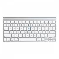 Беспроводная алюминиевая клавиатура Apple Wireless Keyboard (Раскладка - US, гравировка - RU / UA), без упаковки (MC184_nb)