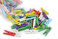 Набор разноцветных декоративных прищепок 50 шт 3,5 см