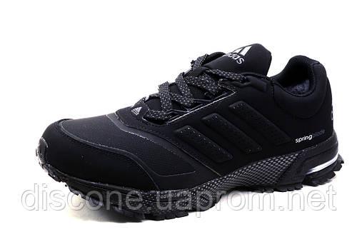 Зимние кроссовки Adidas Spring Blade, на меху, замша, черные