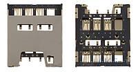 (Коннектор) Aksline Разъем SIM-карты Sony LT29i Xperia TX Original