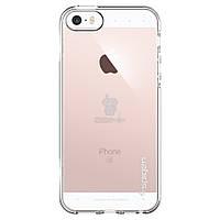 """Ультратонкая, силиконовая накладка с эффектом """"не прилипания"""" Spigen Liquid Armor для iPhone 5, 5S, SE - прозрачная (041CS20247)"""