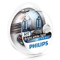 """Автомобильные галогенные лампы """"PHILIPS""""(H11)(Crystal Vision)(4300K)+2W5W"""